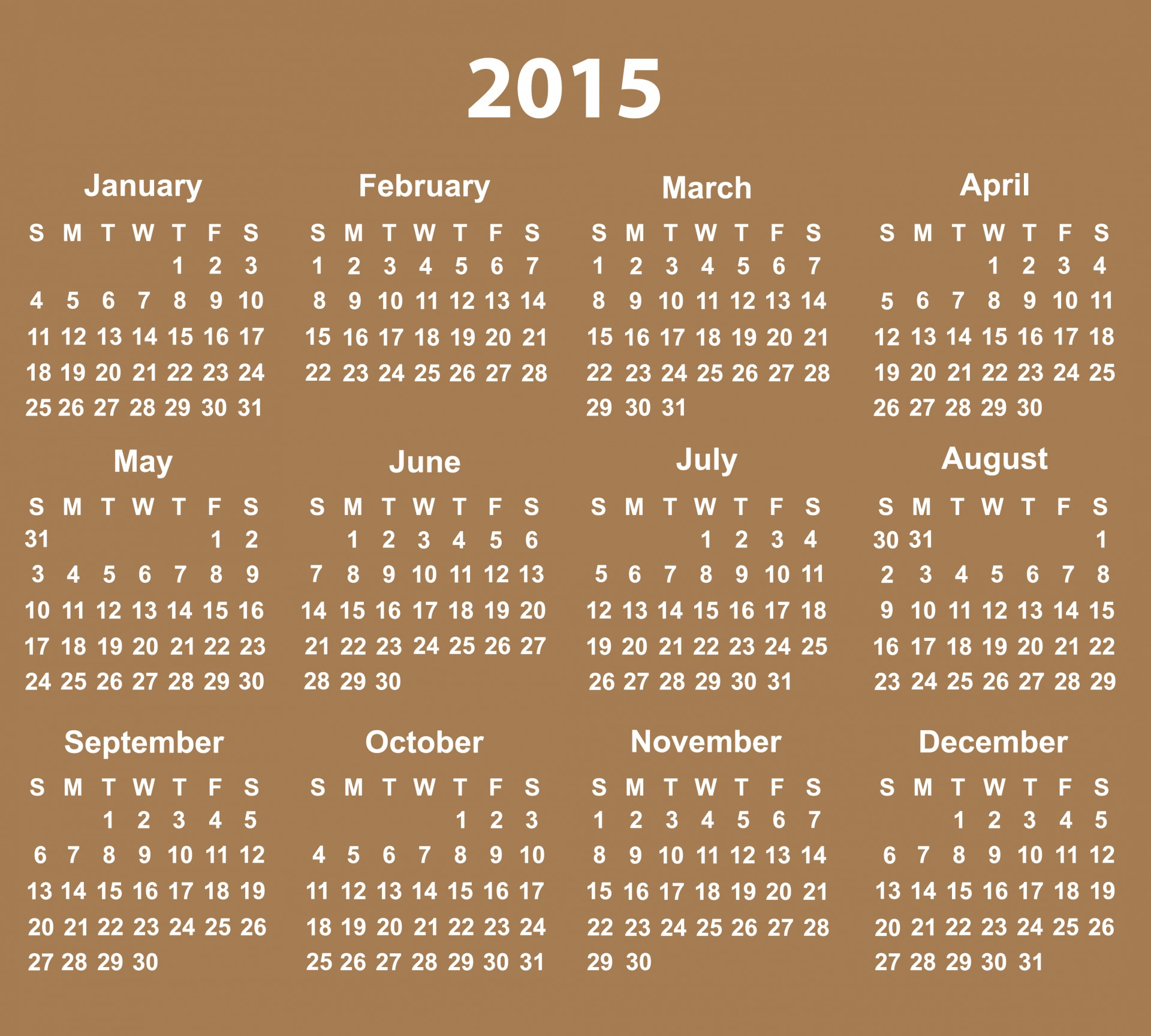 2015,calendar,2015 calendar,printable,printable calendar - free