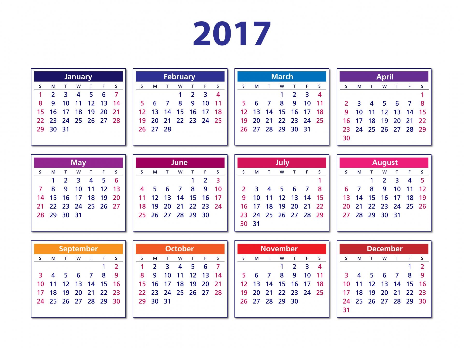 2017 Calendar2017calendar 2017calendartemplate Free