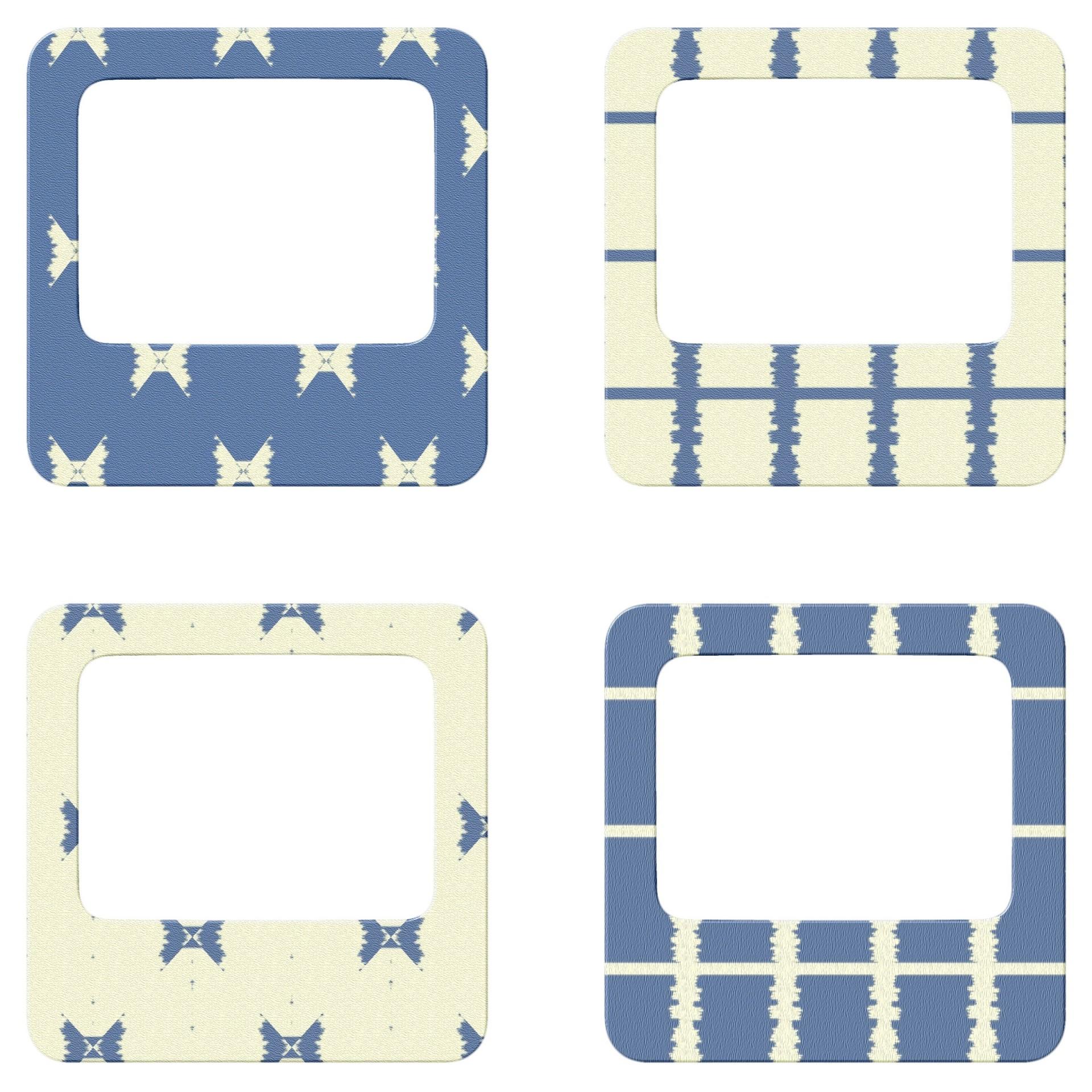 Scrapbooking,frames,blue,4 mini frames # 2,free pictures