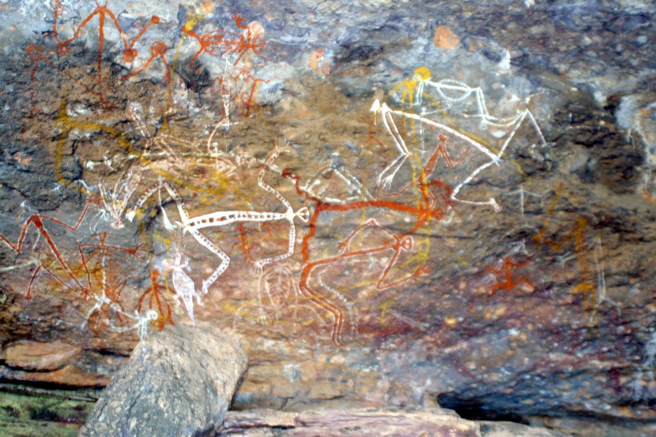aboriginal painting rock painting free photo