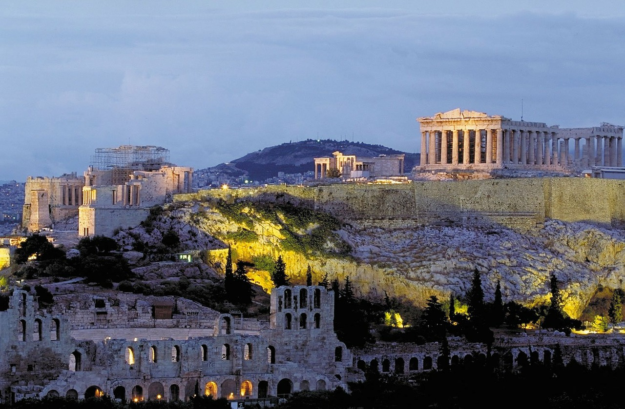 acropolis parthenon athens free photo
