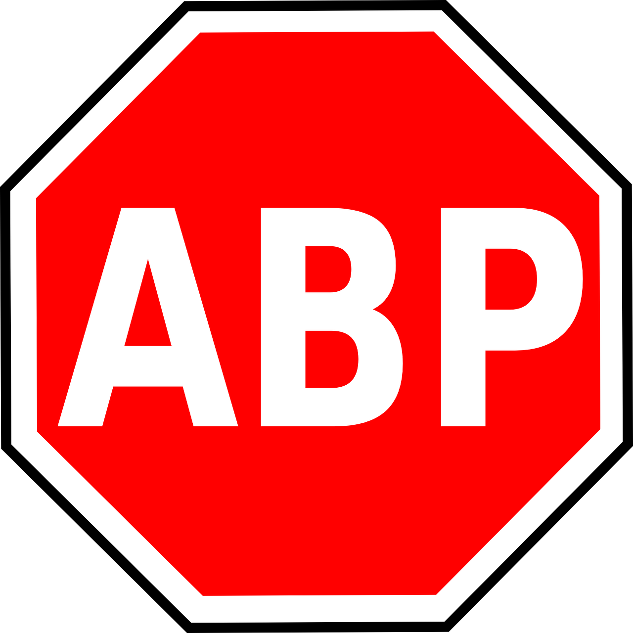 adblock plus logo octagon free photo