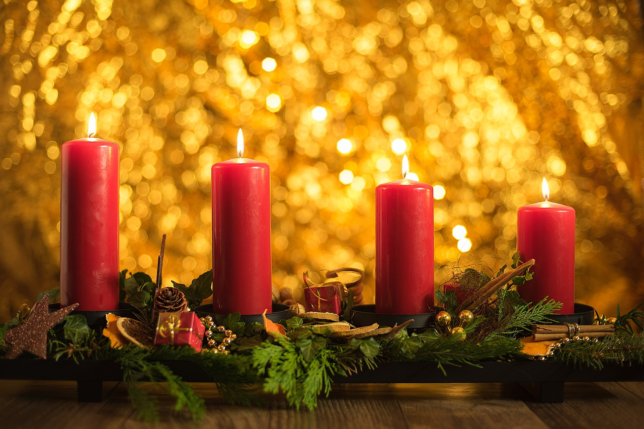 advent fourth candles free photo