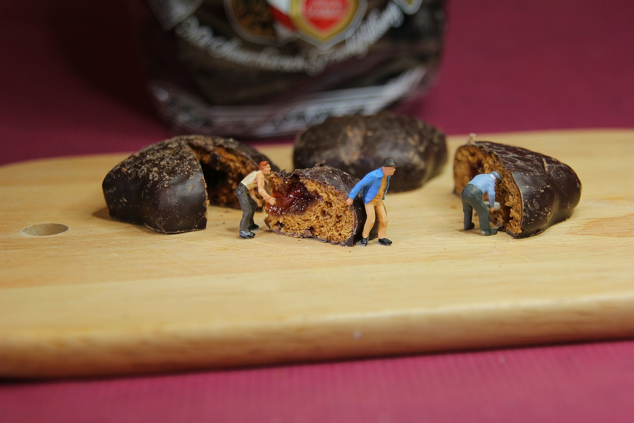 advent chocolate pastries miniature figures free photo