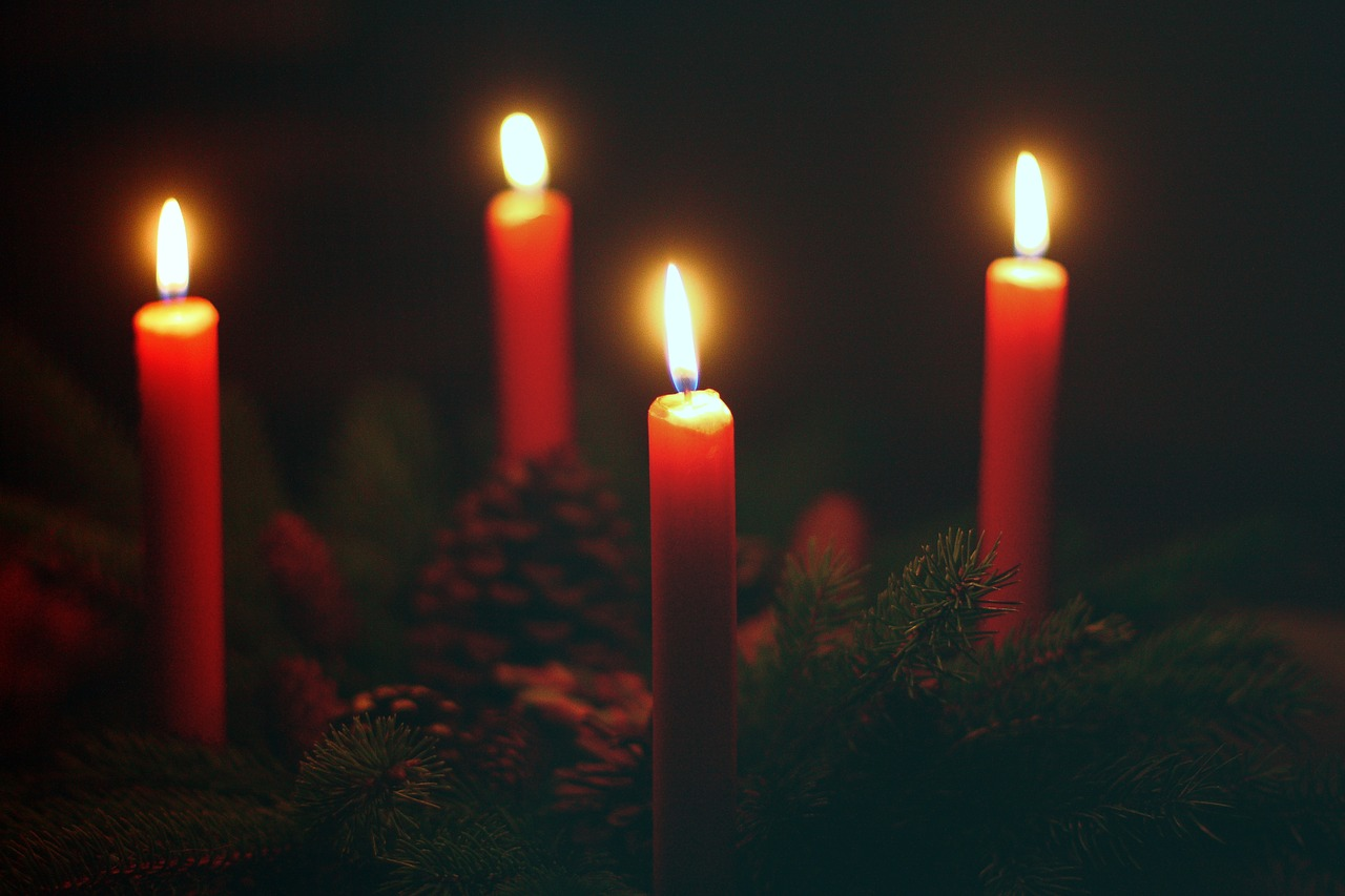 advent wreath fourth advent candles free photo