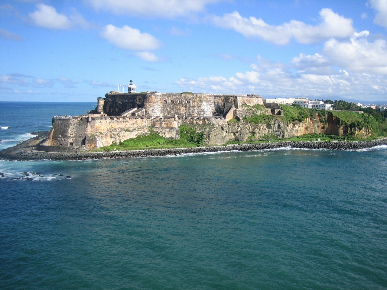 aerial view puerto rico cliffs ocean free photo