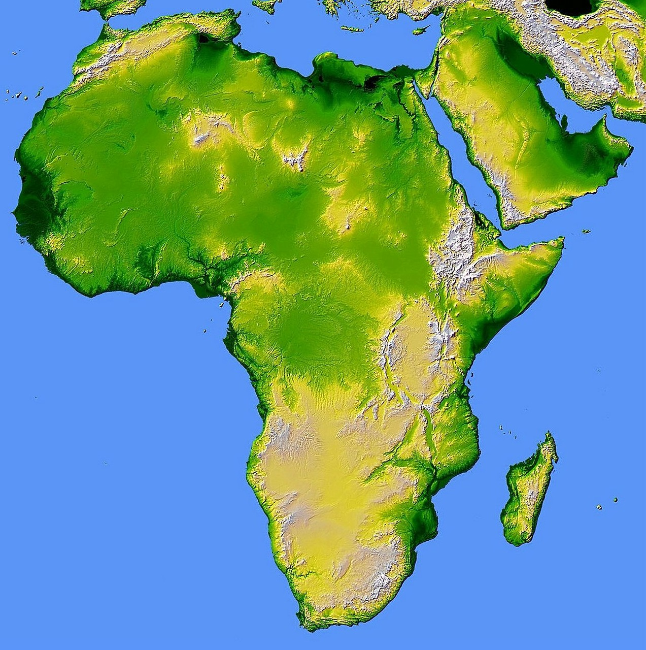 africa map relief free photo