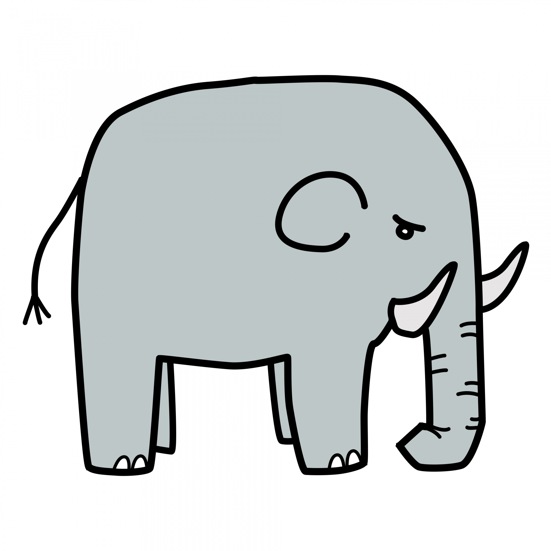 Download Free Photo Of Drawing African Elephant Cartoon