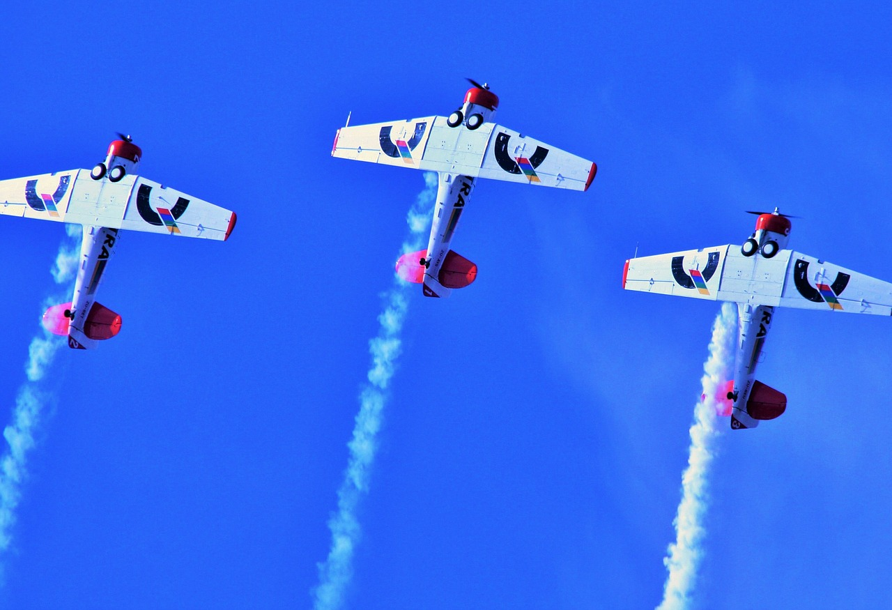 air show aircraft formation free photo