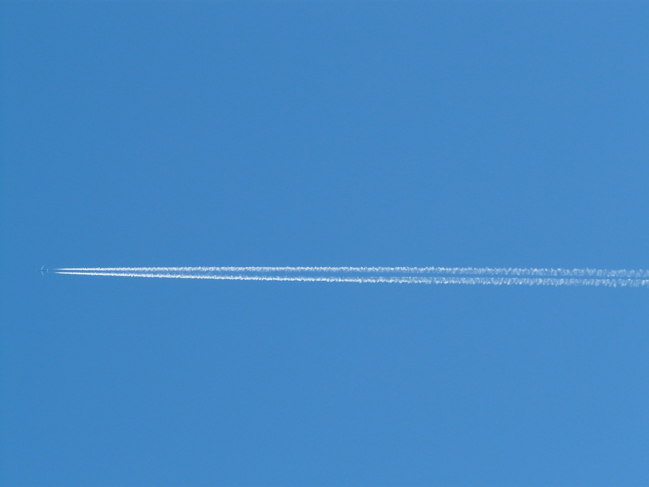 aircraft contrail stripes free photo