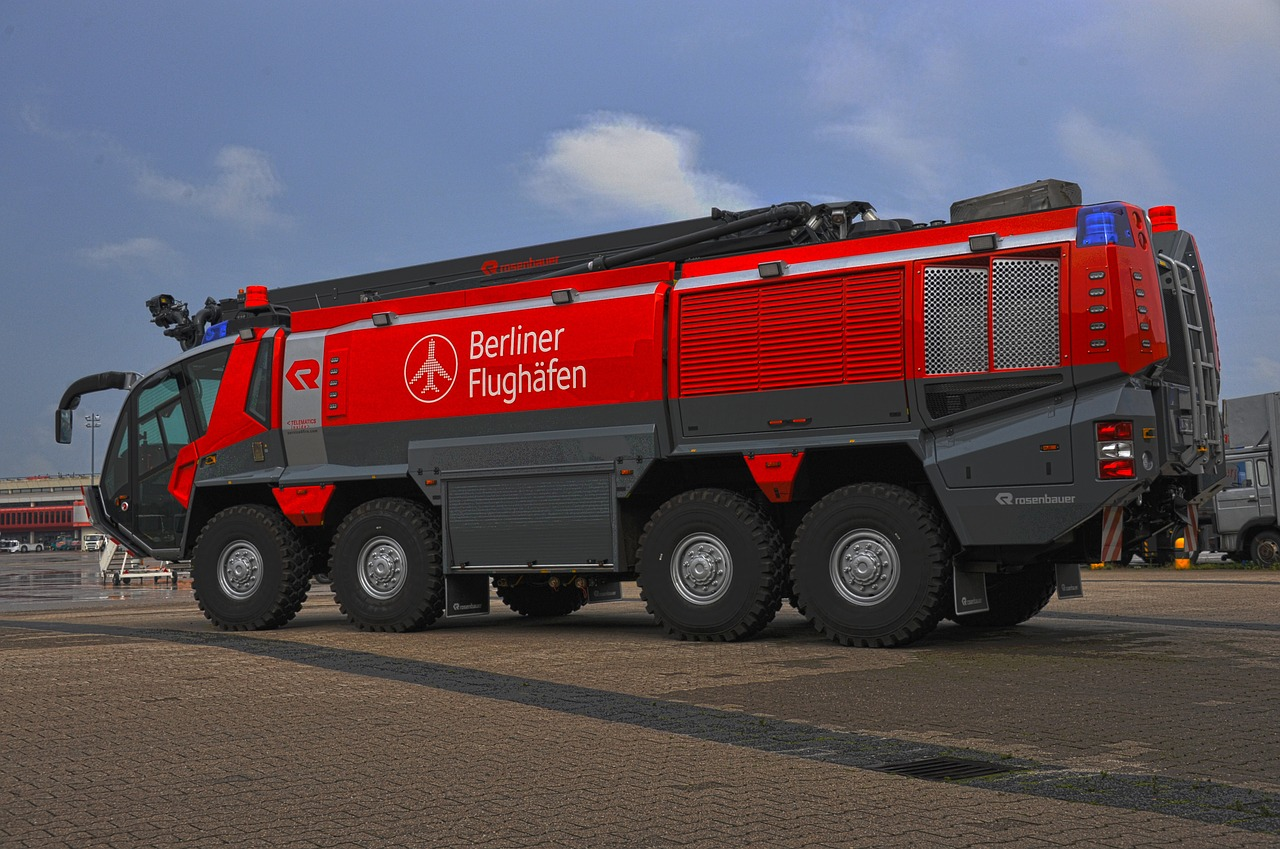 airfield fire truck berlin panter free photo