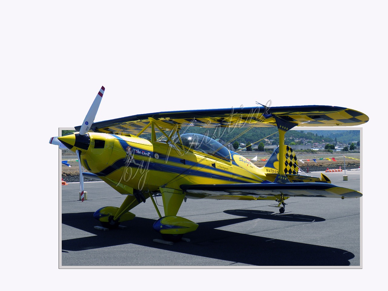 airplane yellow biplane free photo