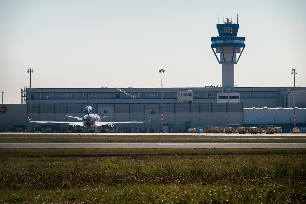 airport tower aircraft free photo
