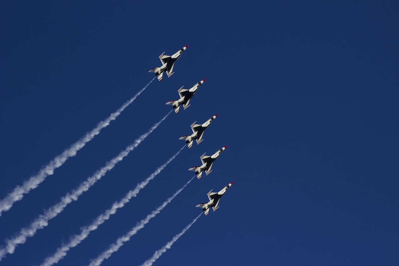 airshow thunderbirds nellis air force base free photo