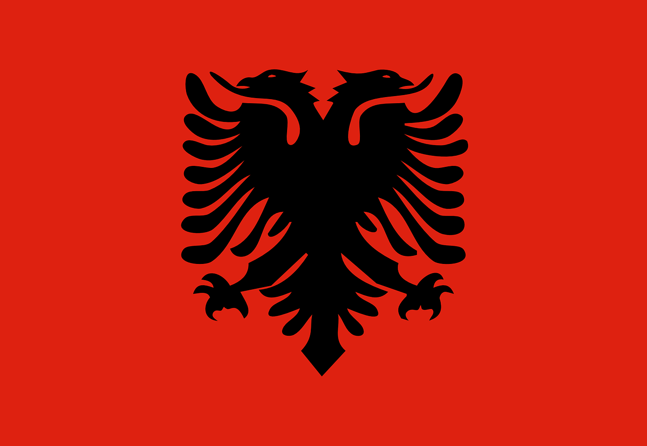 albania flag national free photo