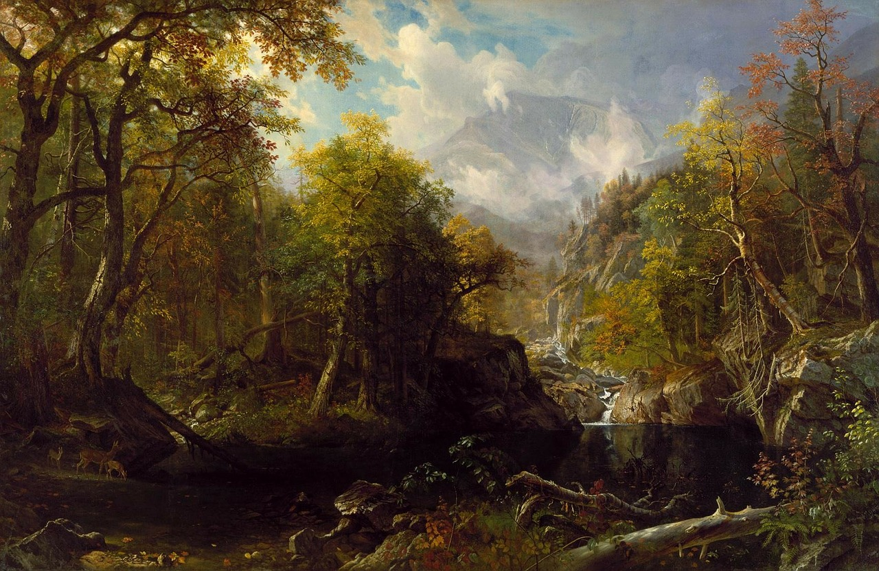 albert bierstadt landscape art free photo