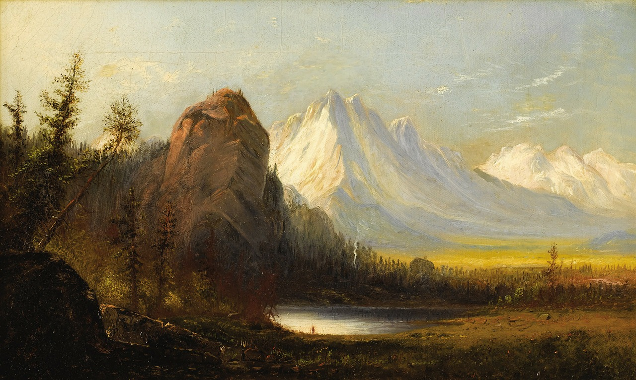 albert bierstadt painting art free photo