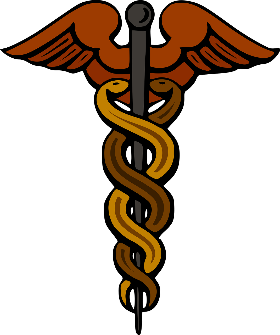 alchemy astrology caduceus free photo