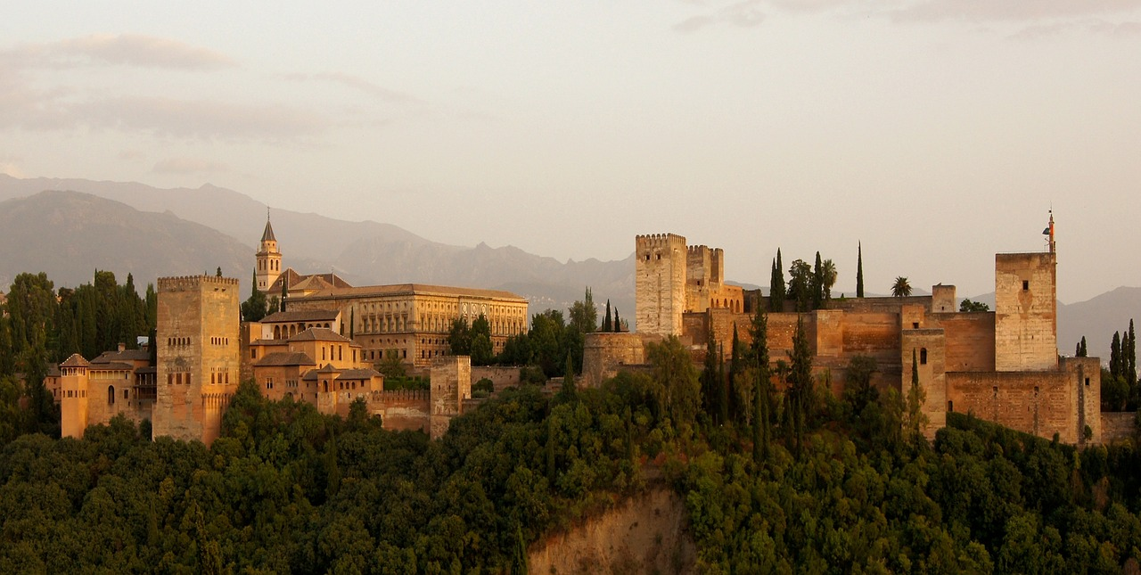 alhambra castle building free photo