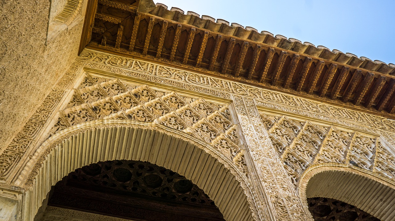alhambra architecture spain moorish andalusia free photo from