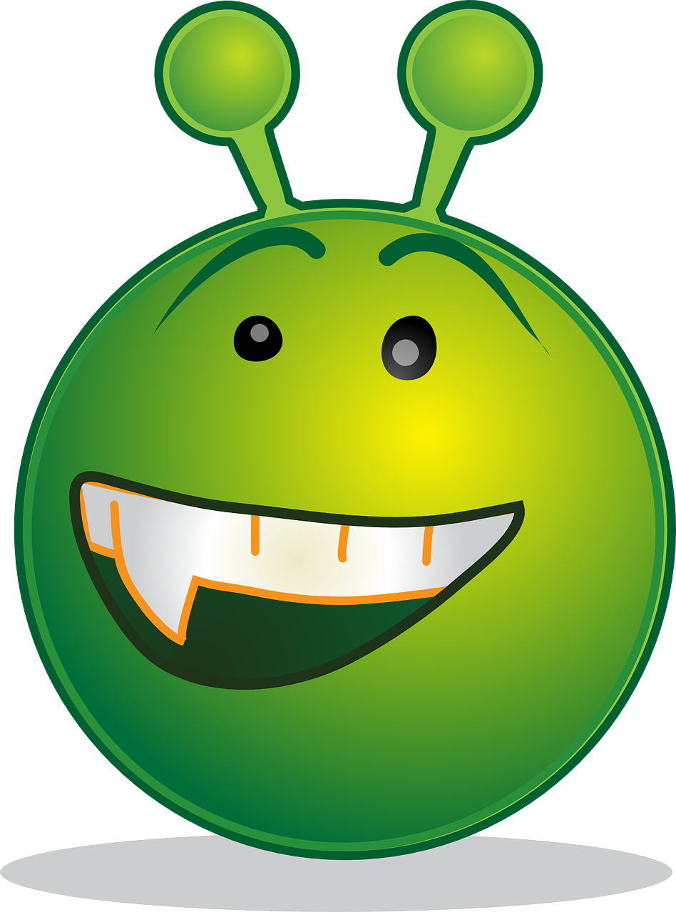 alien smiley design free photo