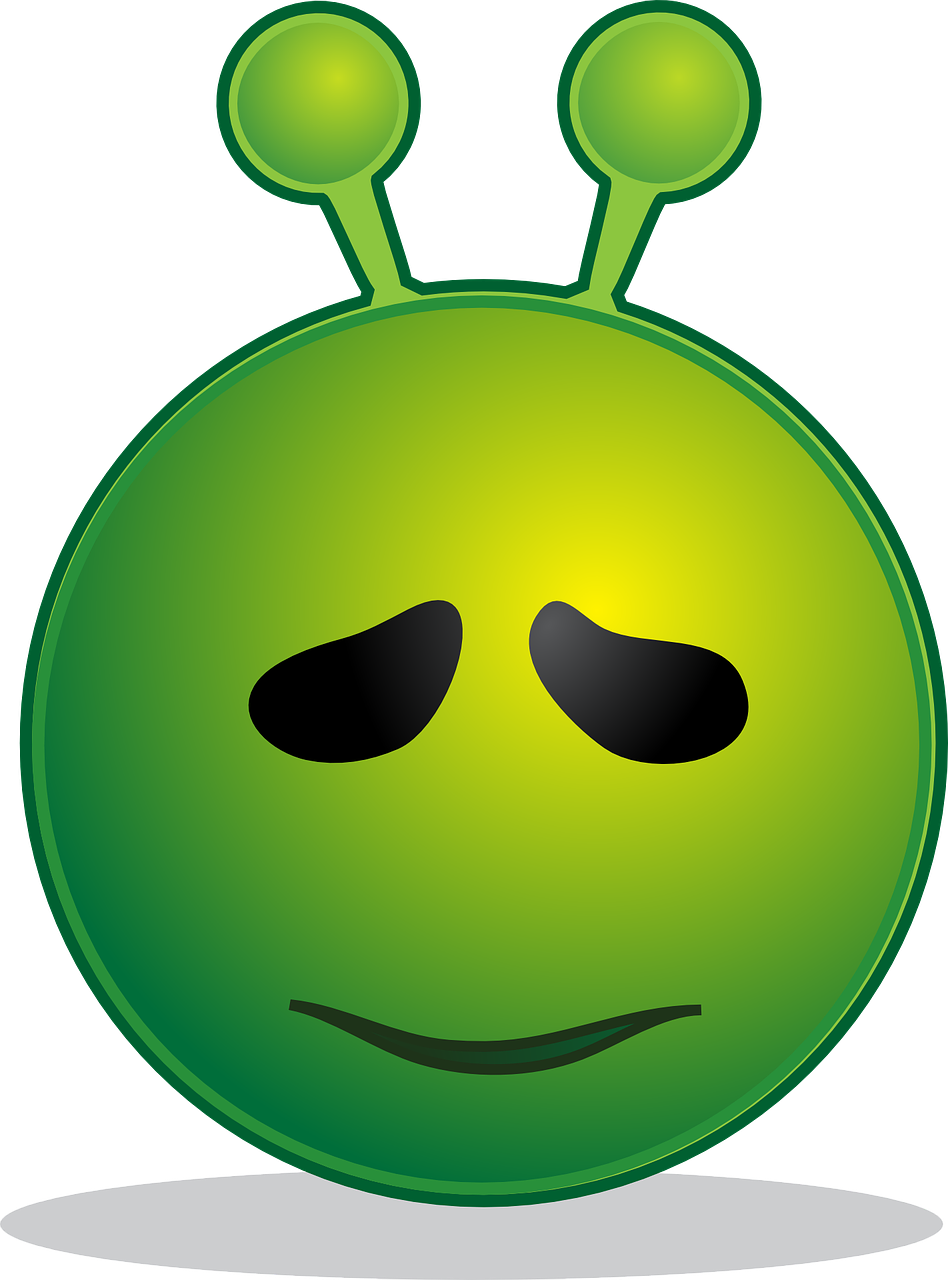 alien smiley emoji free photo