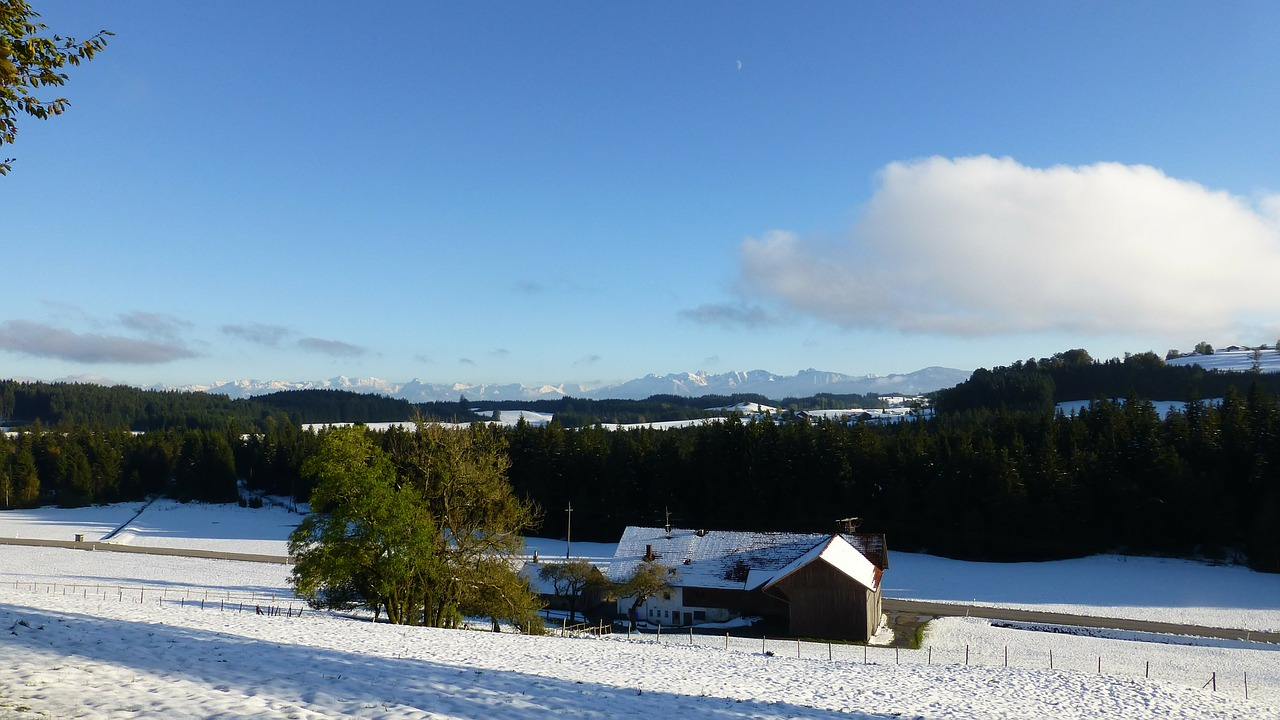 allgäu winter blast snow free photo