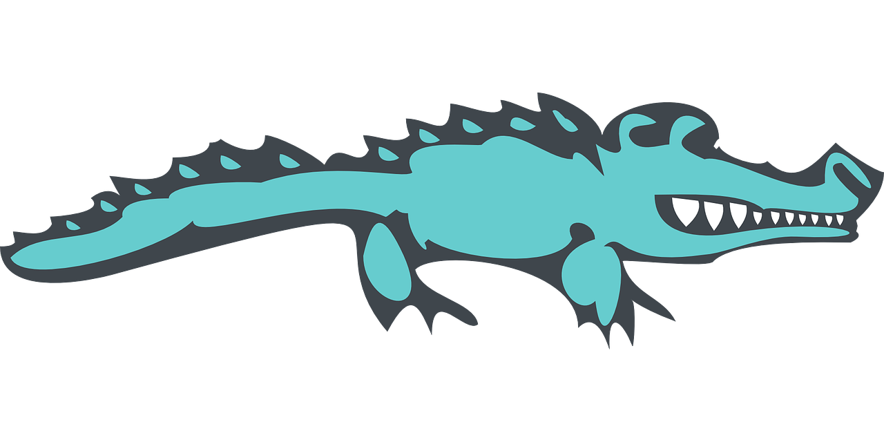 alligator blue scales free photo