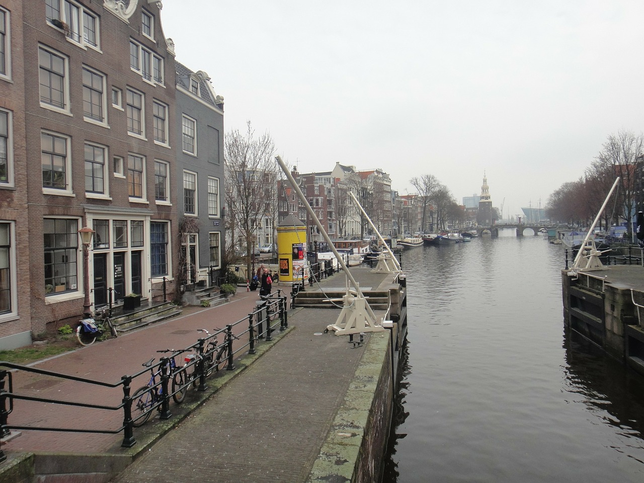 amsterdam canals channel free photo