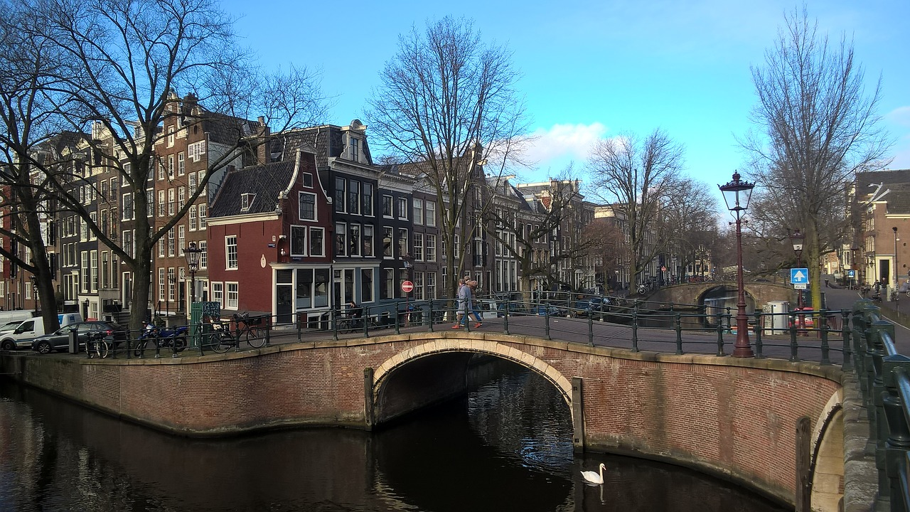 amsterdam netherlands canal free photo
