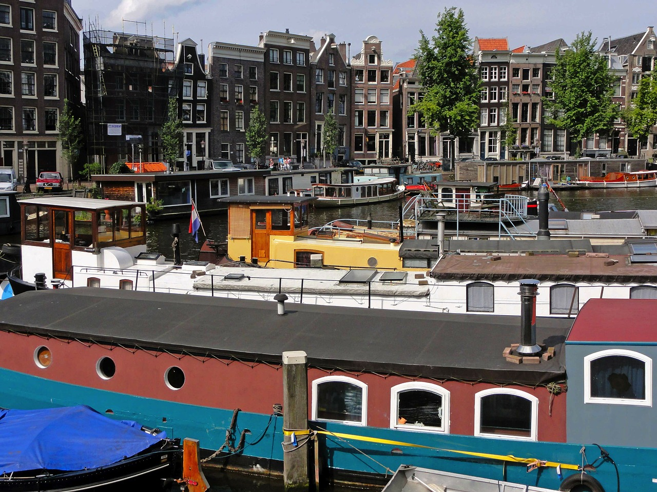 amsterdam netherlands boats free photo