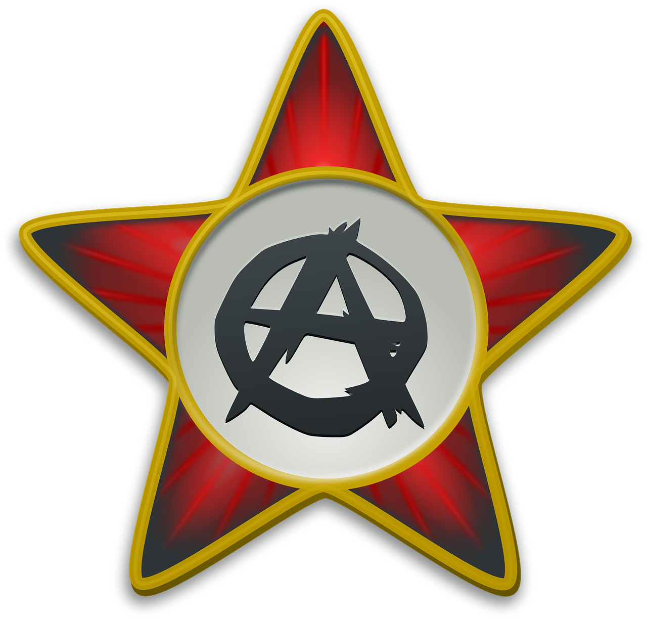 anarchist star star red free photo