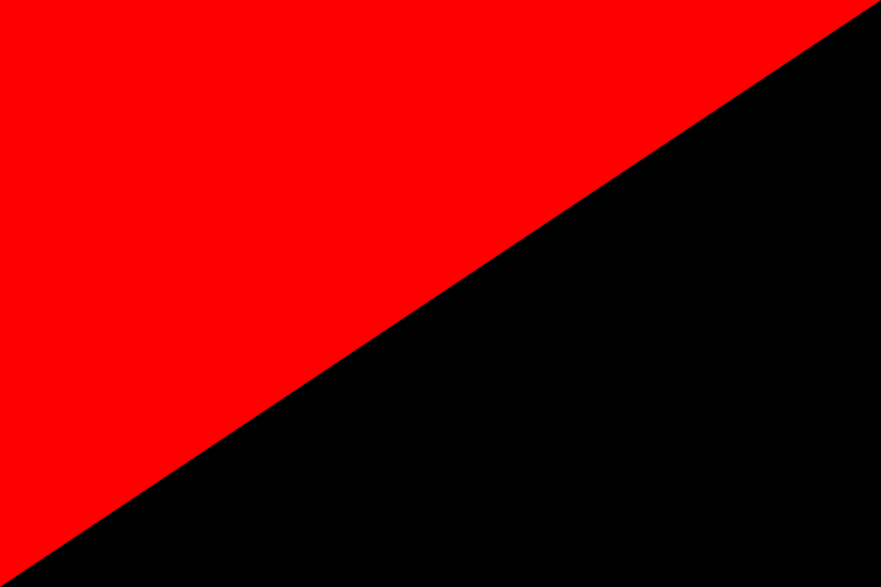 anarchists flag red and black free photo