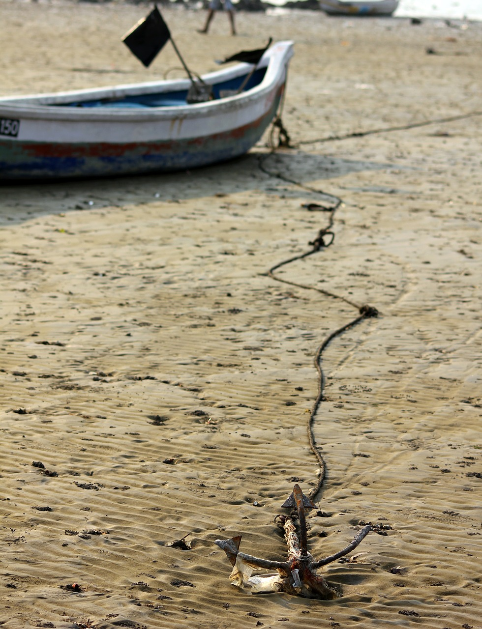 anchor boat sand free photo