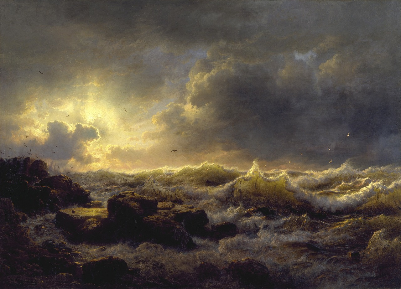 andreas achenbach sea ocean free photo
