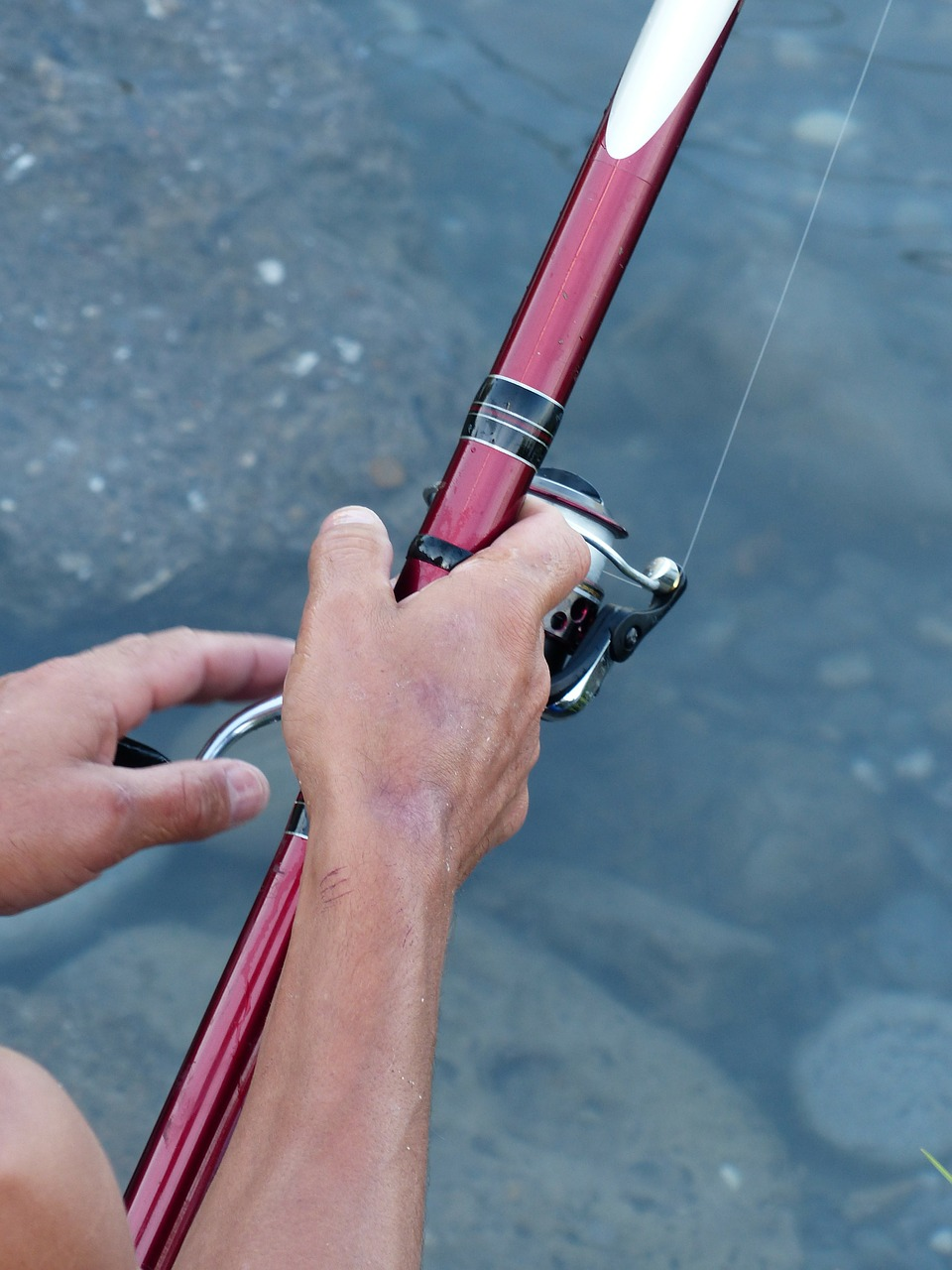 angel angler telescopic rod free photo