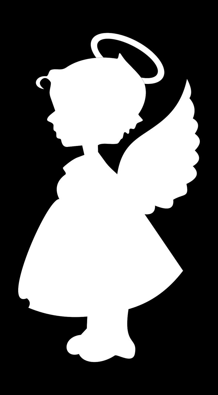 Ангел картинки силуэт