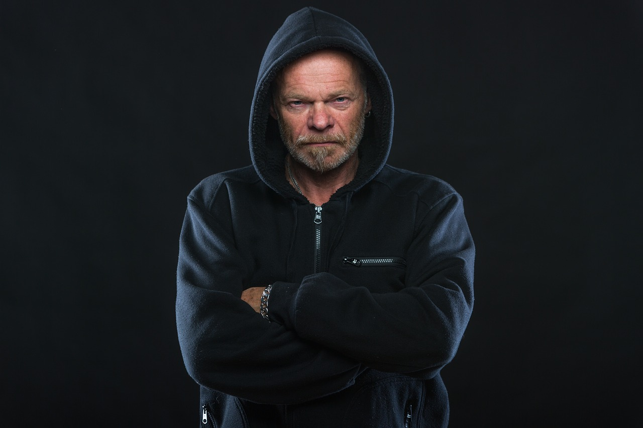 angry man hoodie free picture