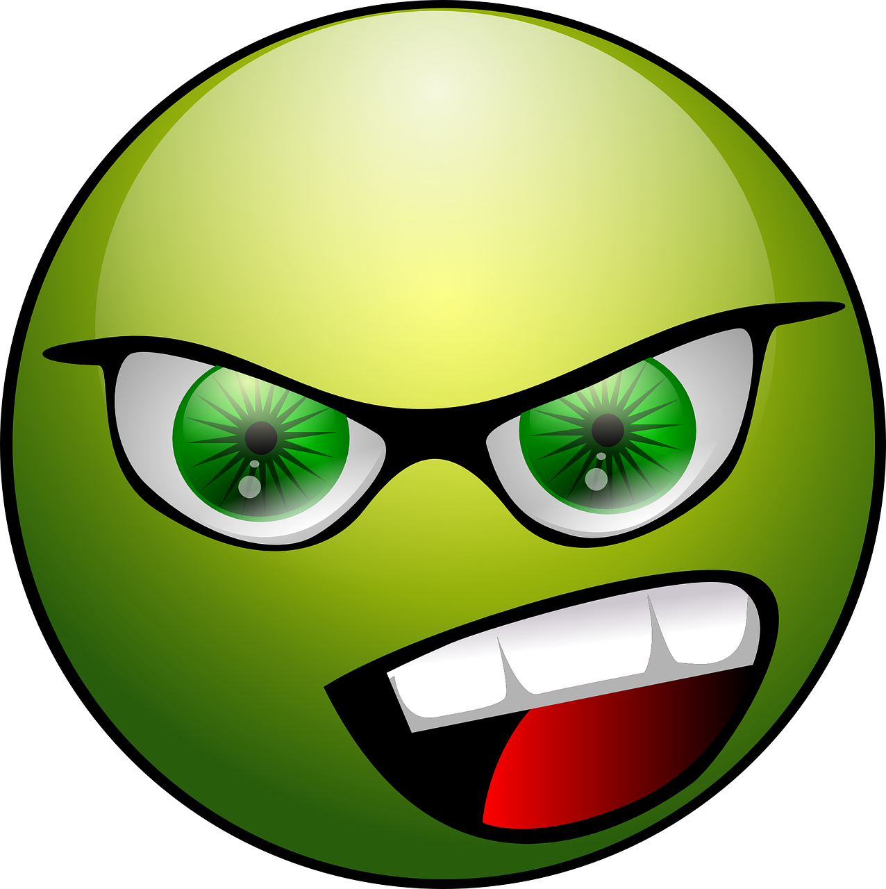 angry face emoticon free photo