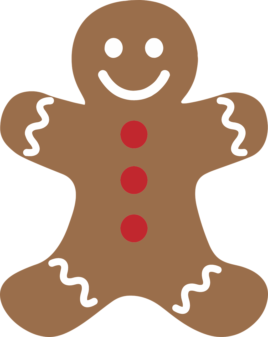 anthropomorphic cookie decoration free photo