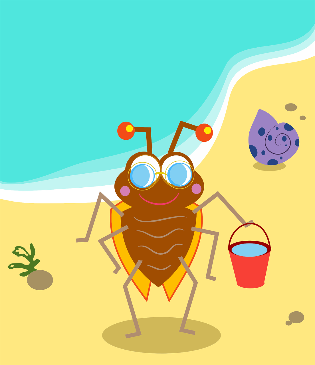 anthropomorphic beach bug free photo