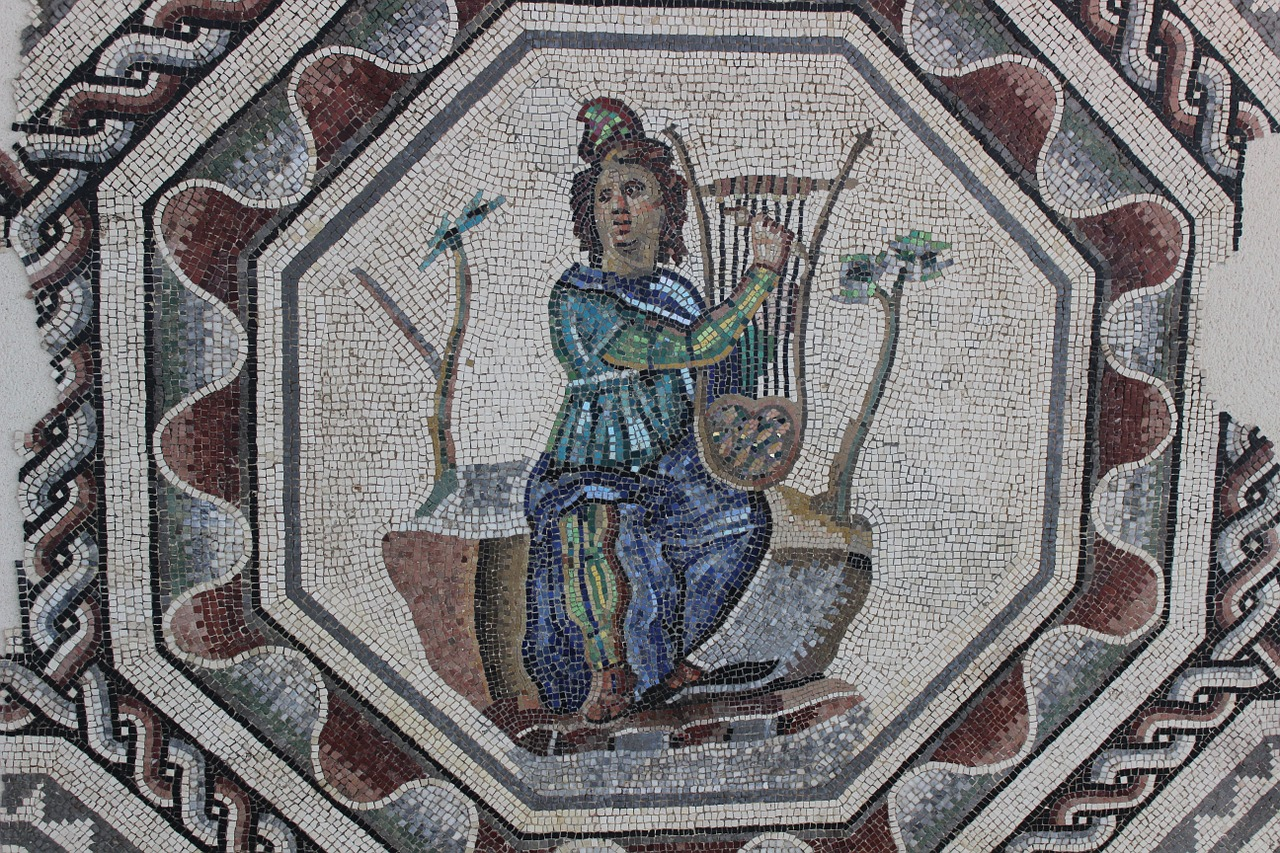 antique mosaic rome free photo