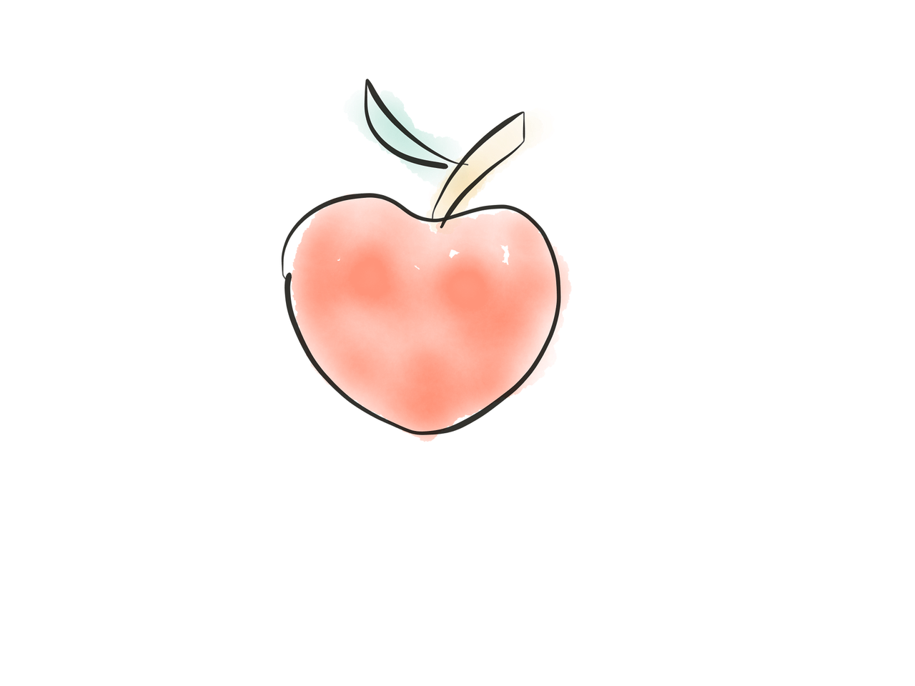 Apple Doodle Fruit Sketch Hand Drawing Free Image From Needpix Com