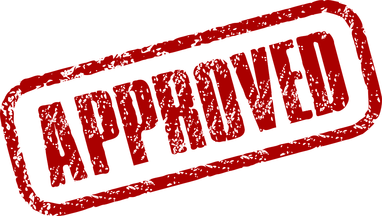 approved stamp approval free photo