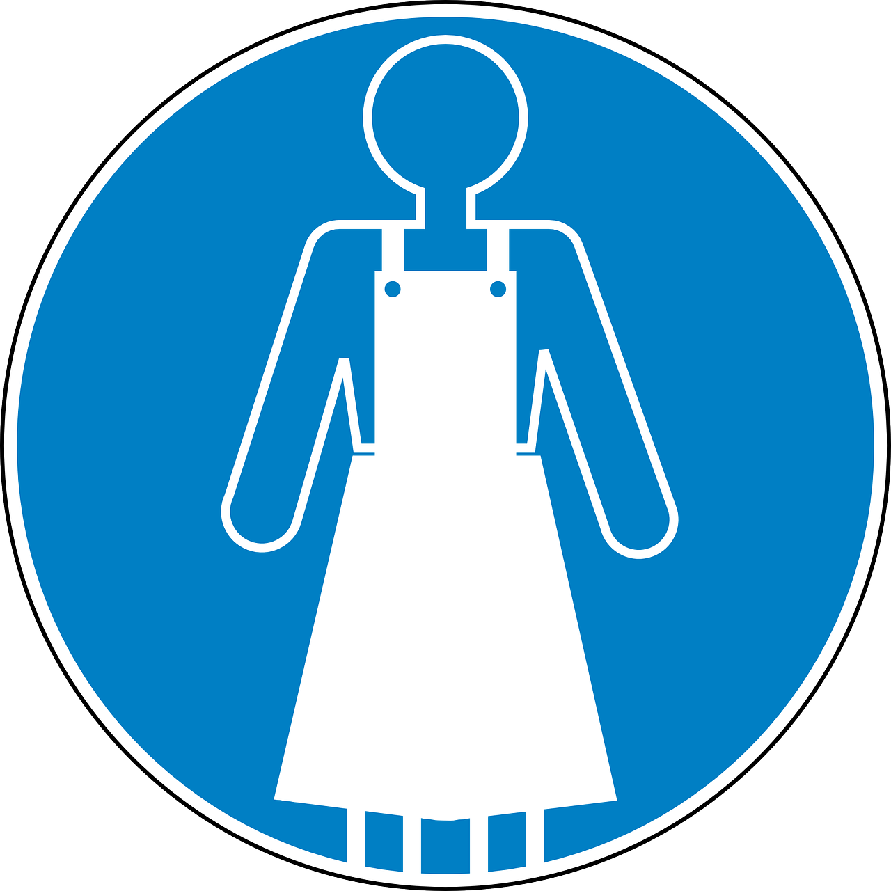 apron safety blue free photo