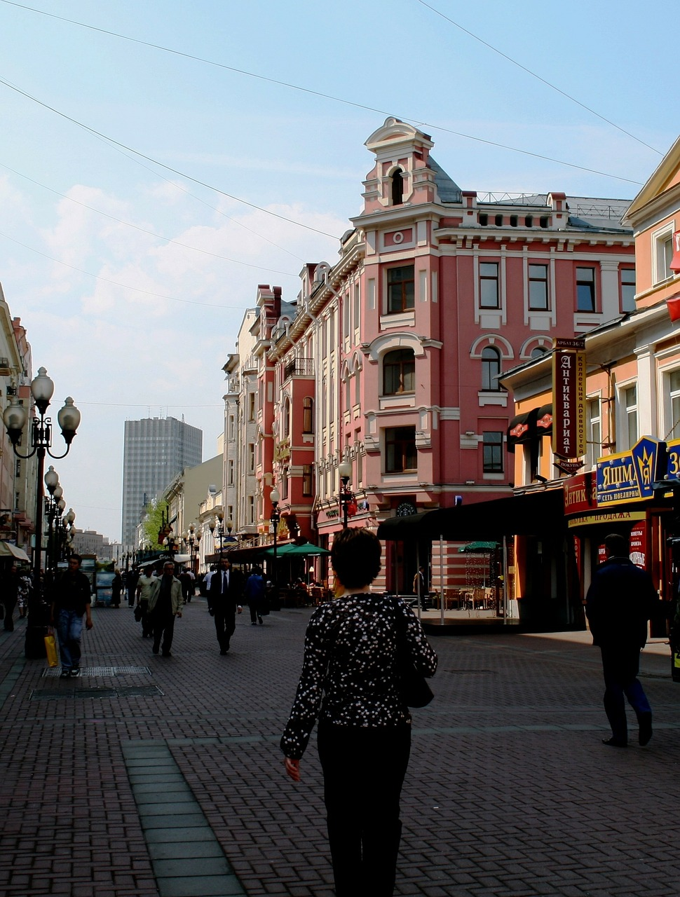 arbat street pedestrian free photo