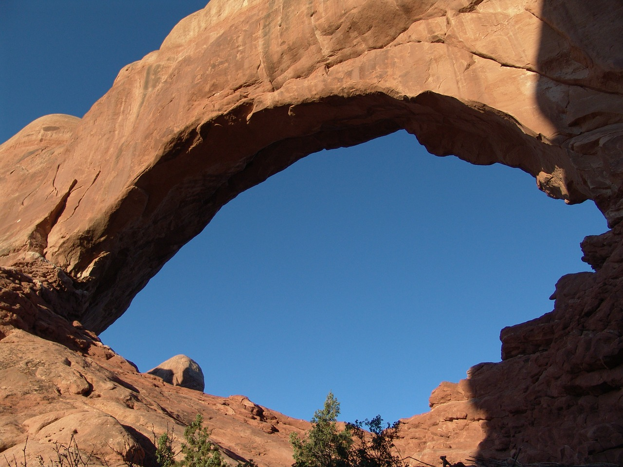 arch north window arches national park free photo