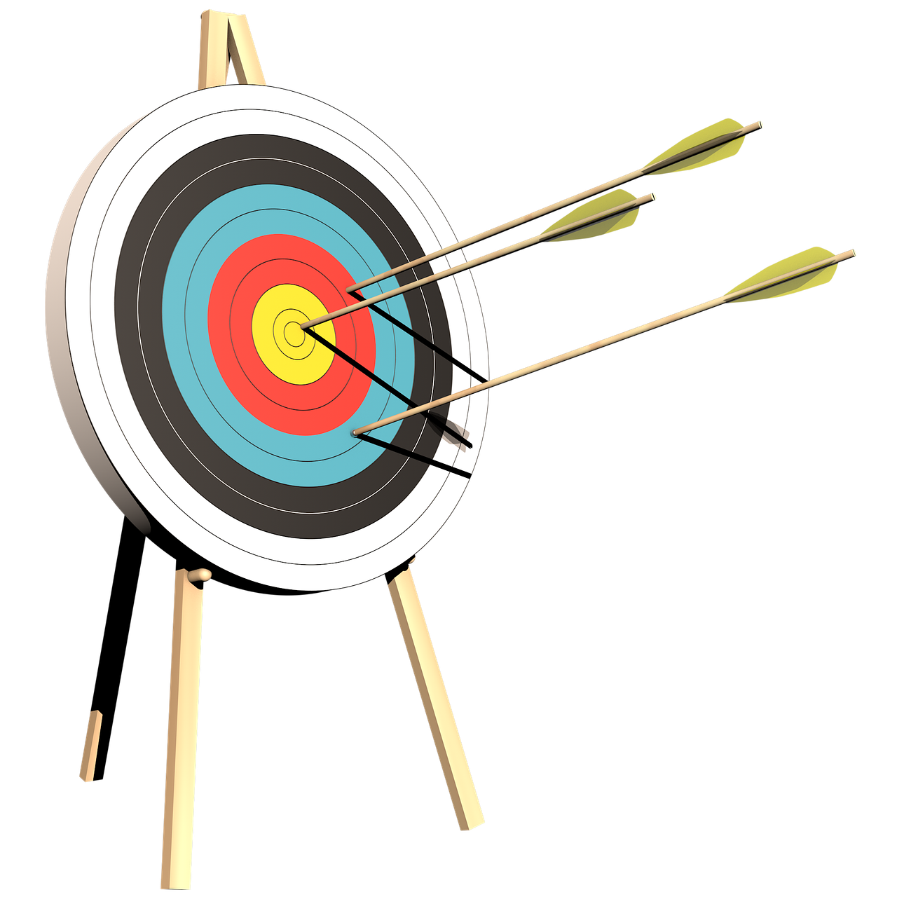 archery target arrows free photo