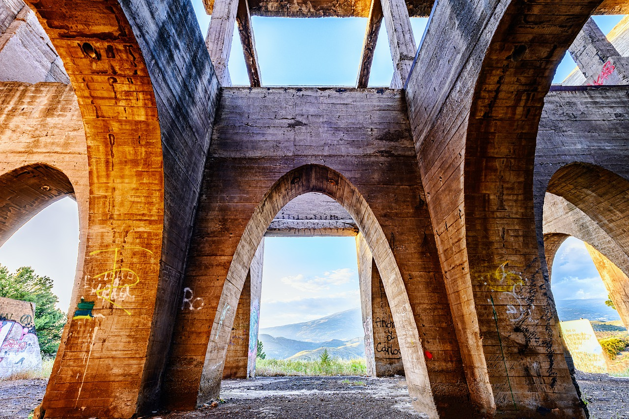 architecture  arches  perspective free photo
