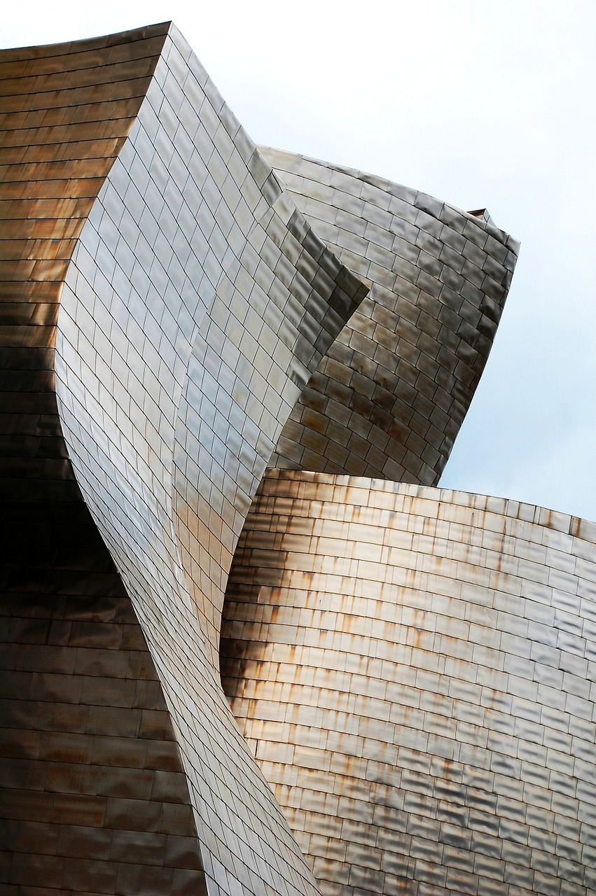 architecture guggenheim bilbao free photo